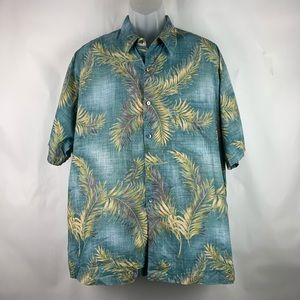 Tori Richard Hawaiian Mens Shirt Blue Color XL